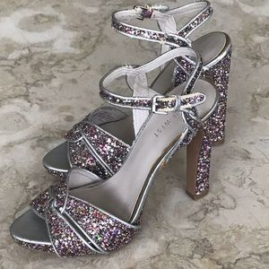 Nine West Platform Sparkling Sandals